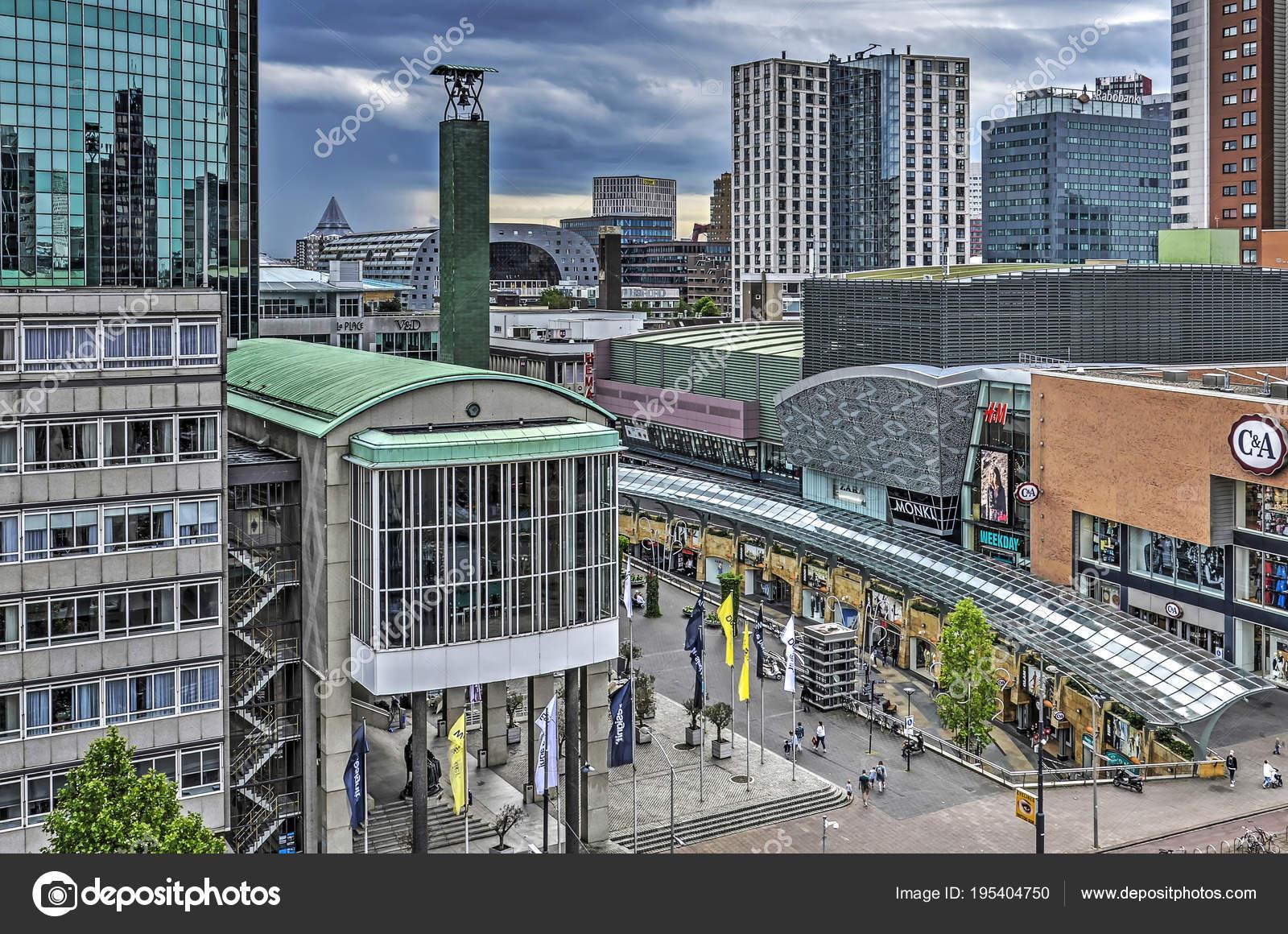 Rotterdam Netherlands June 2017 View Koopgoot Shopping Mall