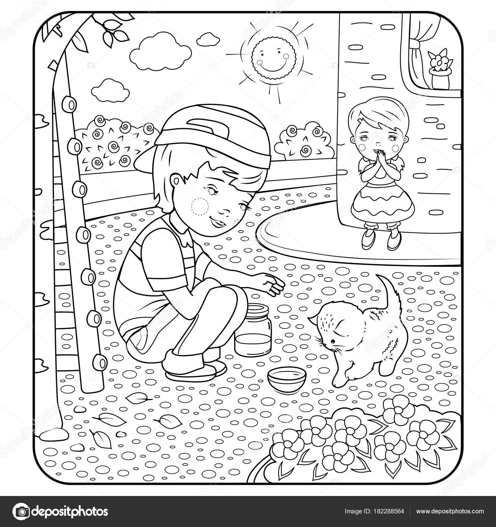 Kindness Boyillustration Coloring Pages Book First Boy Saved