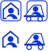 Fotografie Icons for nursing at home and nursing on tour color theme illustration