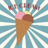 Illustration of ice cream with writing