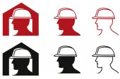 Fotografie Icon Safety at work color theme illustration