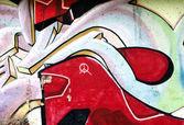 Barva pozadí s Graffiti na zdi