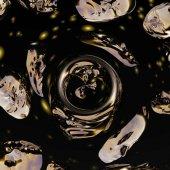 Fotografia Colore astratto sfondo di visualizzazione digitale