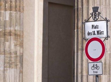 Street sign close up shot