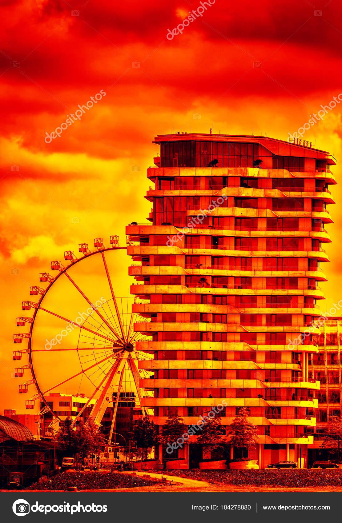 Marco Polo Tower Hamburg City — Stock Photo © CHROMORANGE #184278880