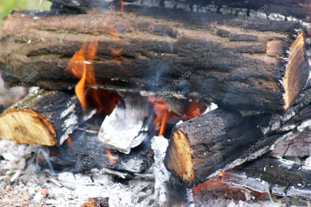 Flame close up shot
