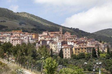Rio Nell Elba, Village At A Hill, Elba, Tuscany, Italy, Europe