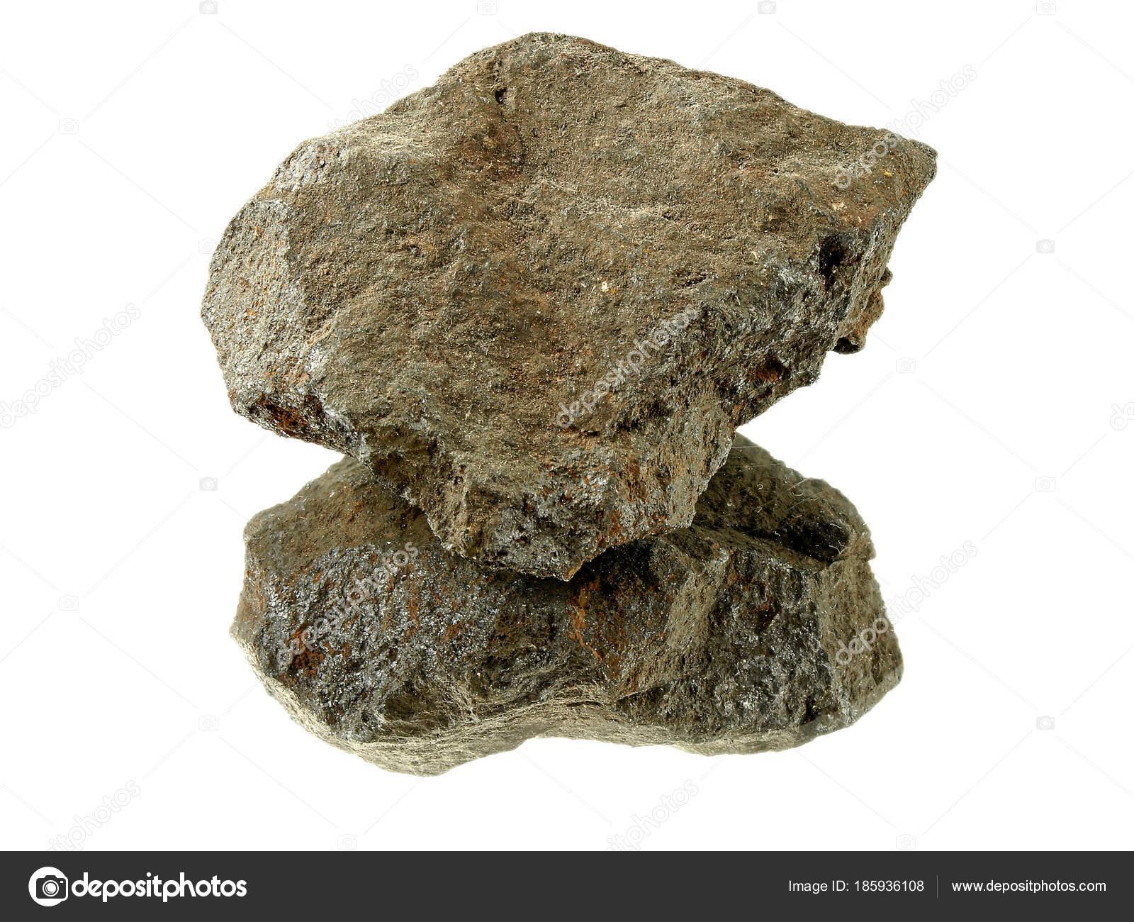 Photo Magnetic Stone Isolated White Background Stock Photo