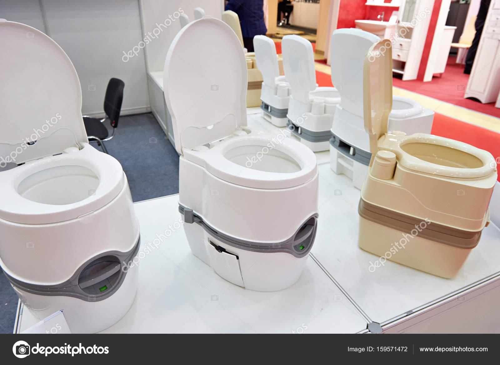 Portable Toilet Exhibition : Portable toilets in shop at exhibition u2014 stock photo © ryzhov #159571472