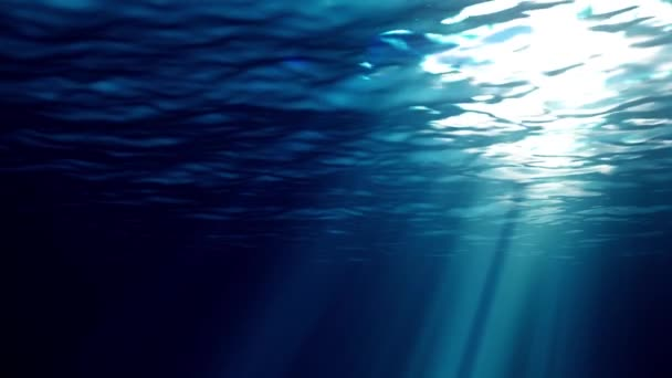 looping animation of ocean waves from underwater High quality Light rays shining through. Great popular marine Background. seamless loop 4k uhd definition