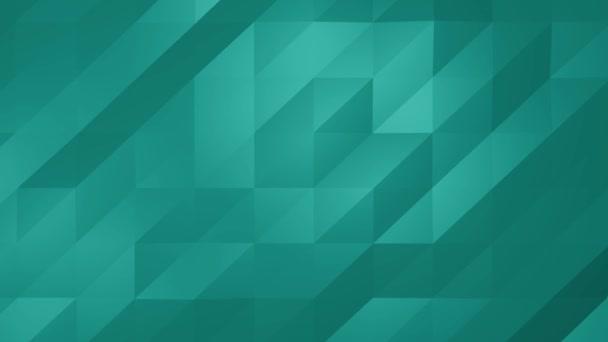 Low Poly aqua modrá zelená smyčka abstraktní pozadí. Bez problémů Loopable.