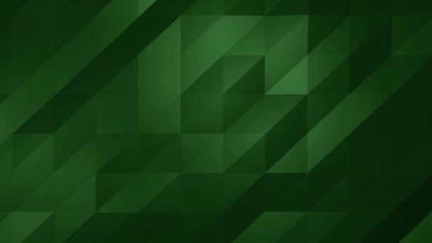 Low Poly darkgreen loop Abstract Background. Seamlessly Loopable.