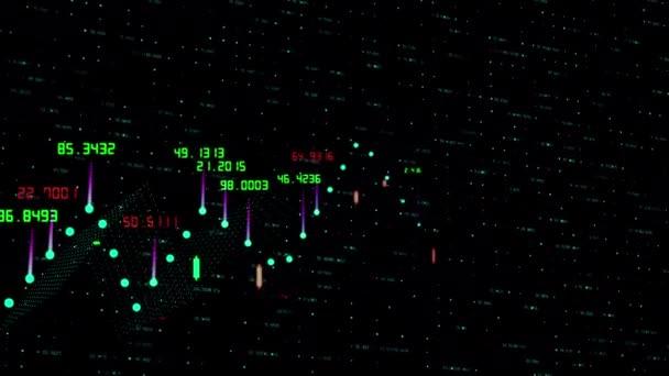 Tabulka a sloupcový graf indexů burzovního trhu kryptoměn. Abstraktní graf měnových kurzů 3d vykreslení