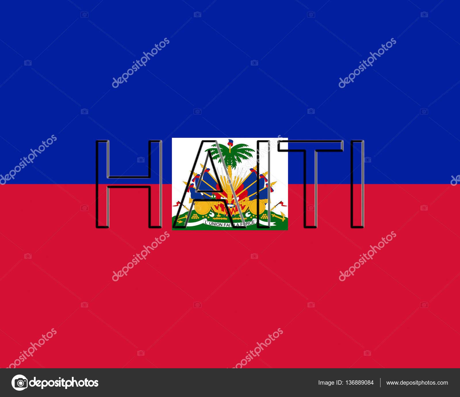 Bandera de Haití palabra — Foto de stock © diverroy #136889084
