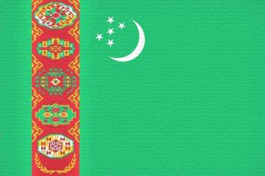 Flag of Turkmenistan Wall.