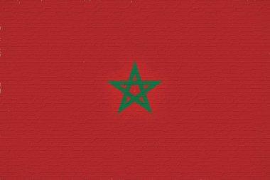 Flag of Morocco Wall.