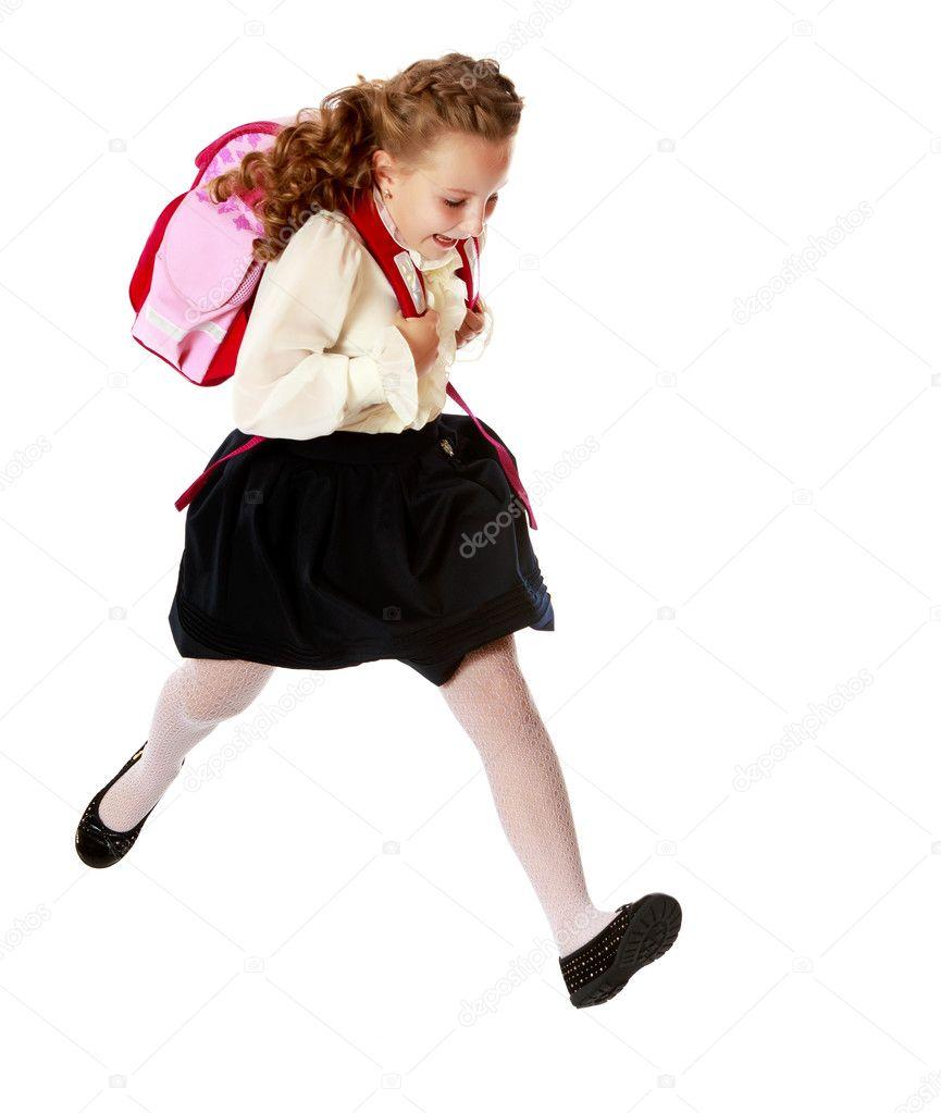 Днем рождения, картинки бегущая девушка в юбке