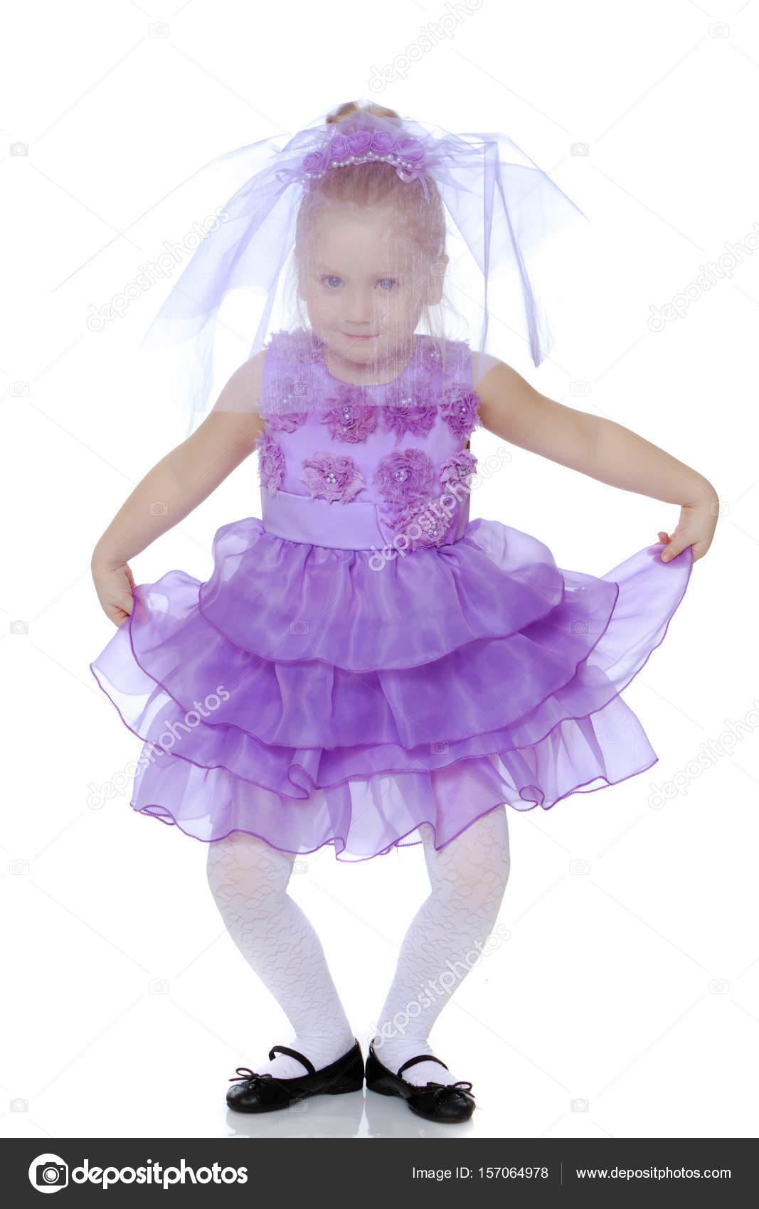 Lila kleid madchen