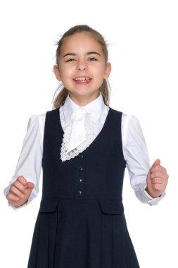 Beautiful little girl laughing.