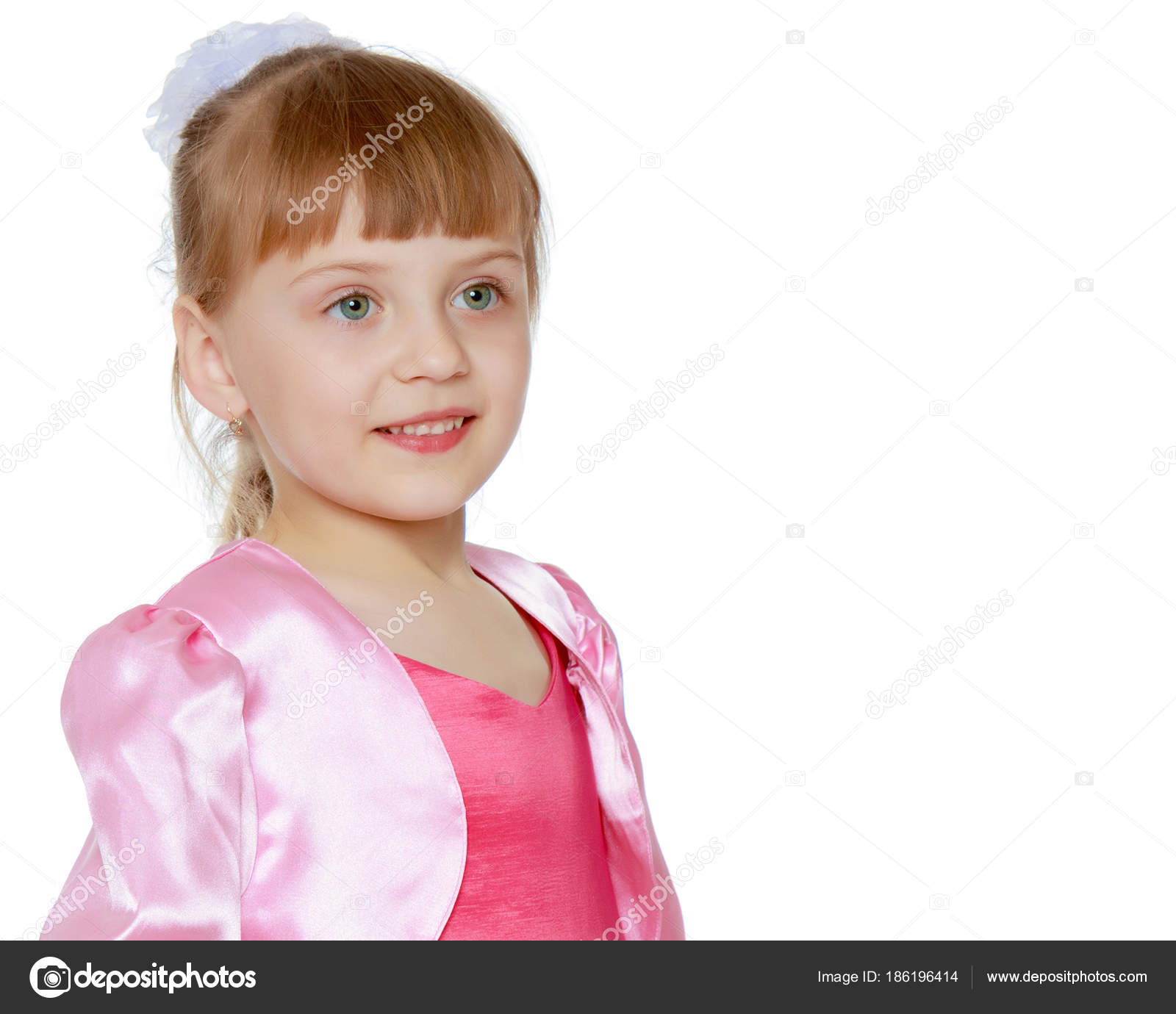 a55c8334f2c Little blonde girl in red dress. — Stock Photo © lotosfoto1  186196414