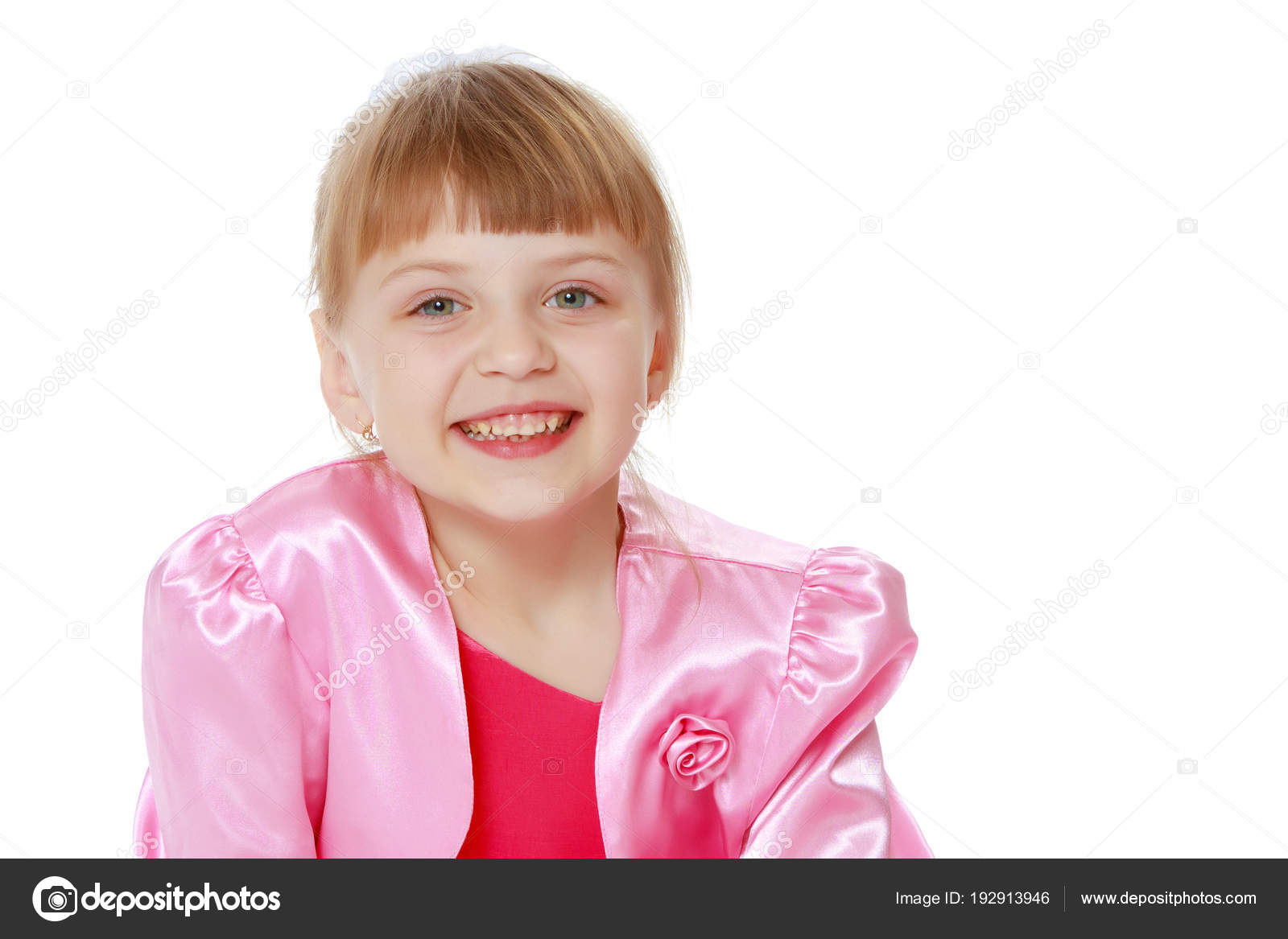 ff93ec04954 Little blonde girl in red dress. — Stock Photo © lotosfoto1  192913946