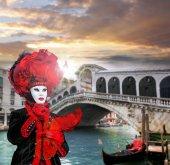Velence, Olaszország, 2016. február 5.: Velence karnevál-maszk. A velencei karnevál egy éves fesztivál tartott Velence, Olaszország.