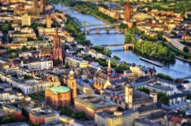 Frankfurt Aerial Tilt Shift .