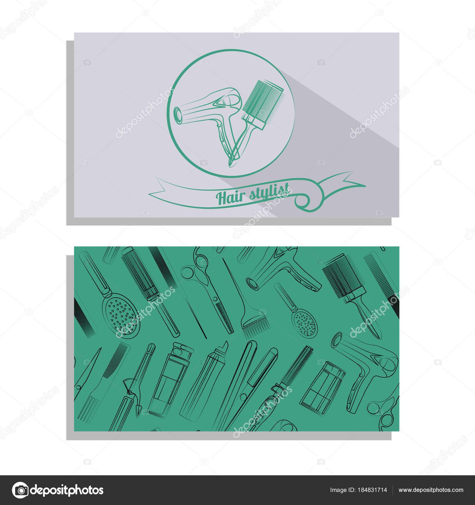Carte De Visite Pour Salon Coiffure Illustration Stock