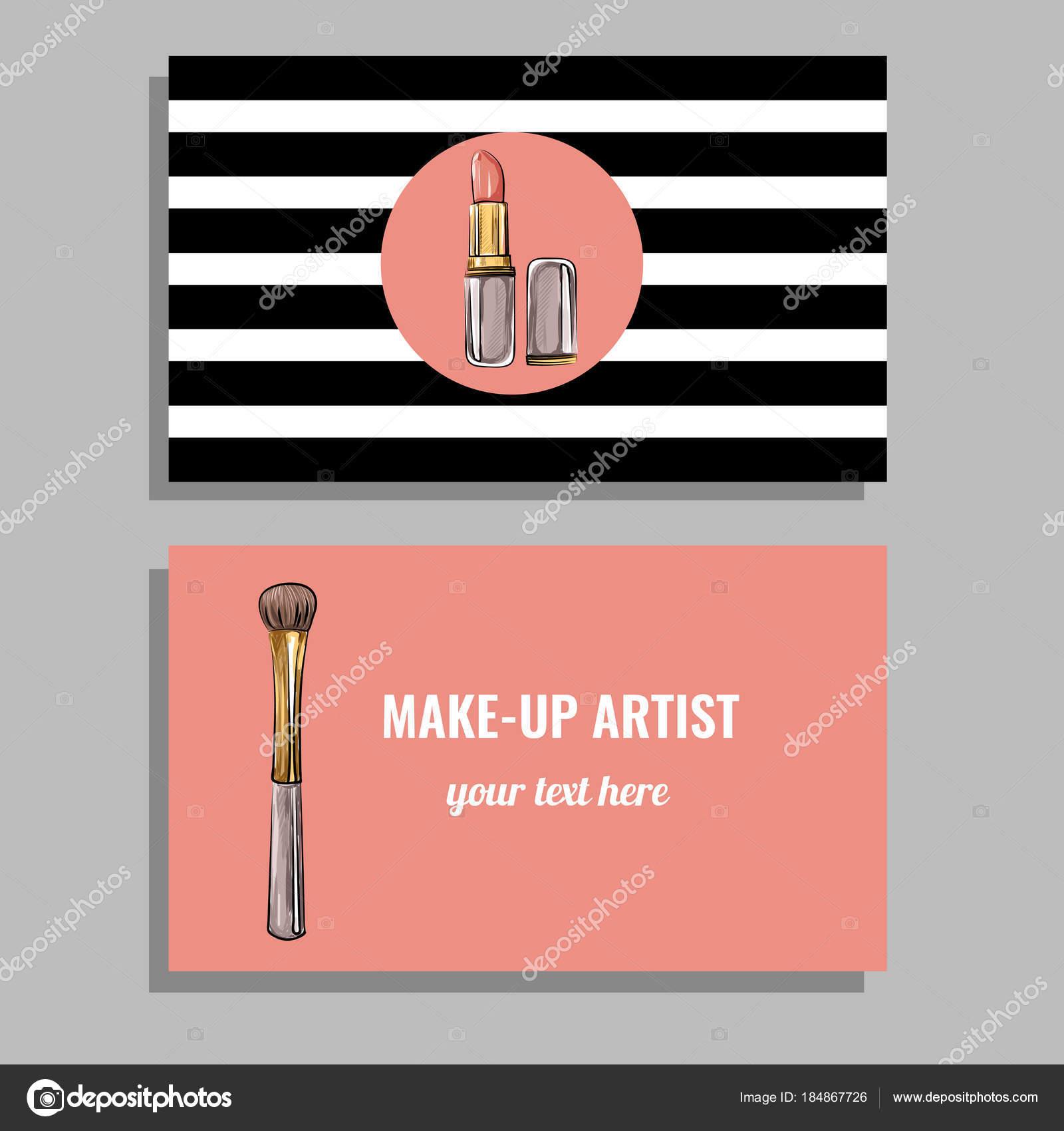 Biglietto Da Visita Per Make Up Artist Vettoriali Stock C Ollimay