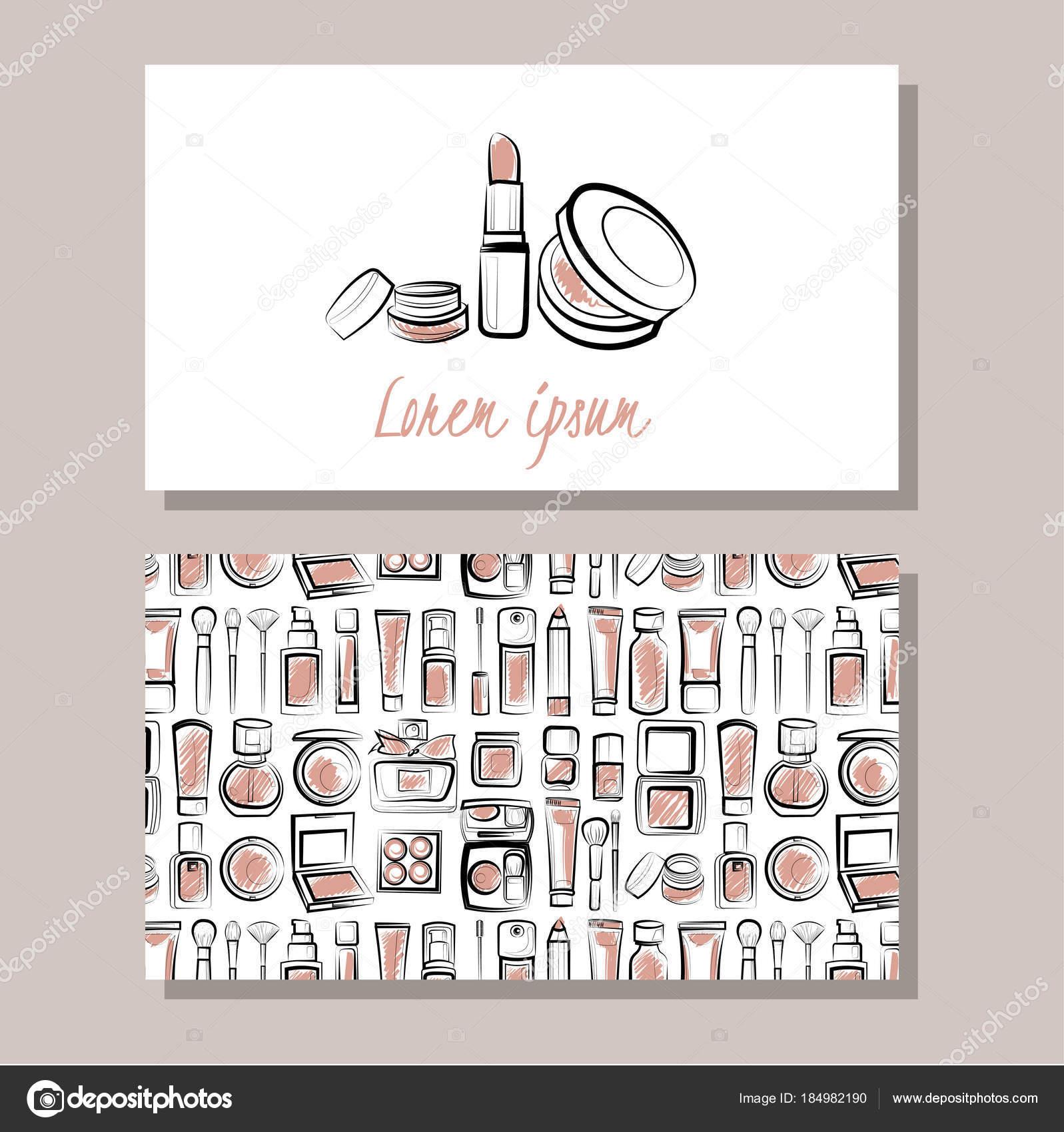 Business Card Make Atrist Set Logo Pattern — Stock Vector © Ollimay ...