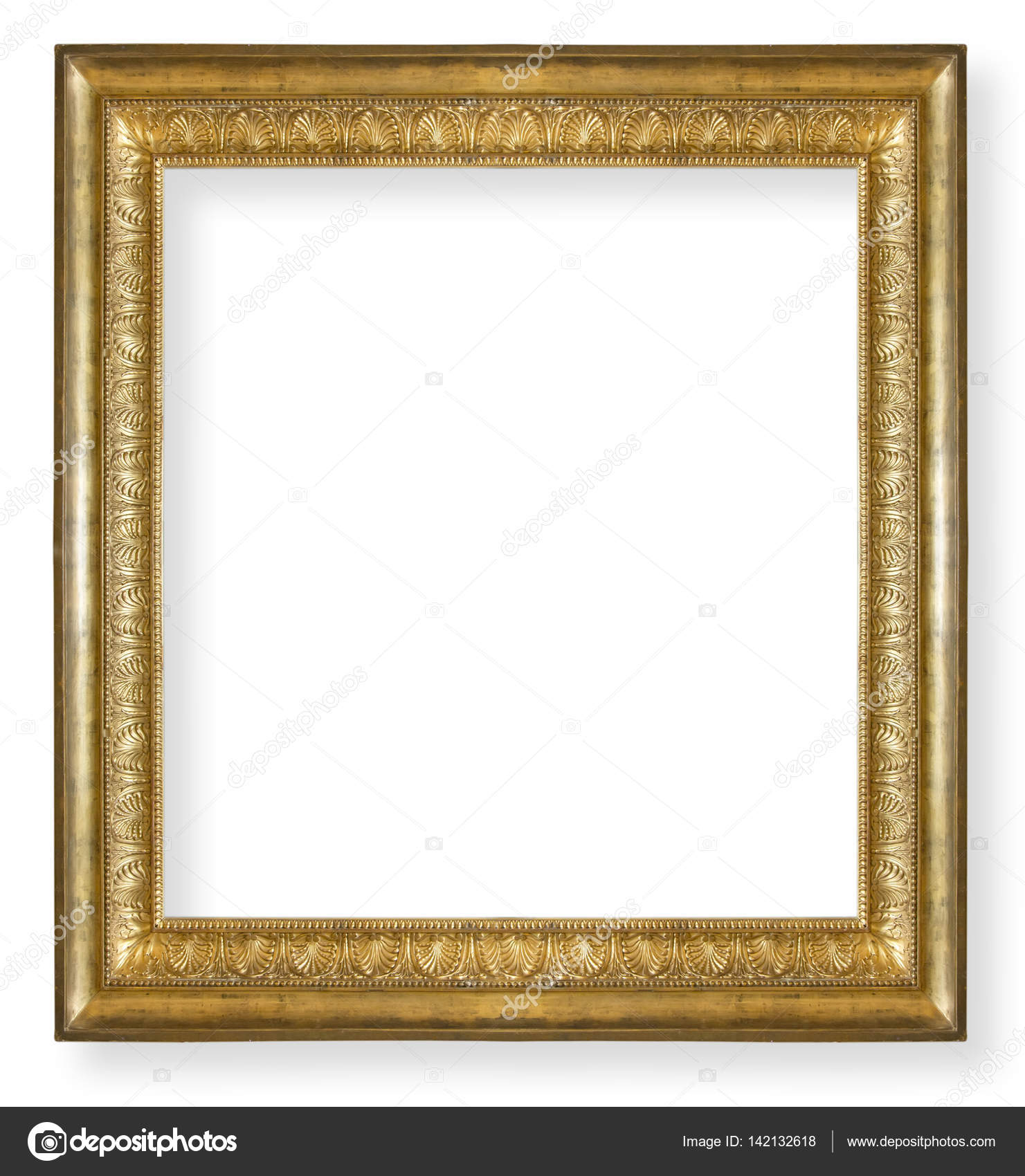 Vintage Gold Frame Isolated Stock Photo Gurkoao 142132618