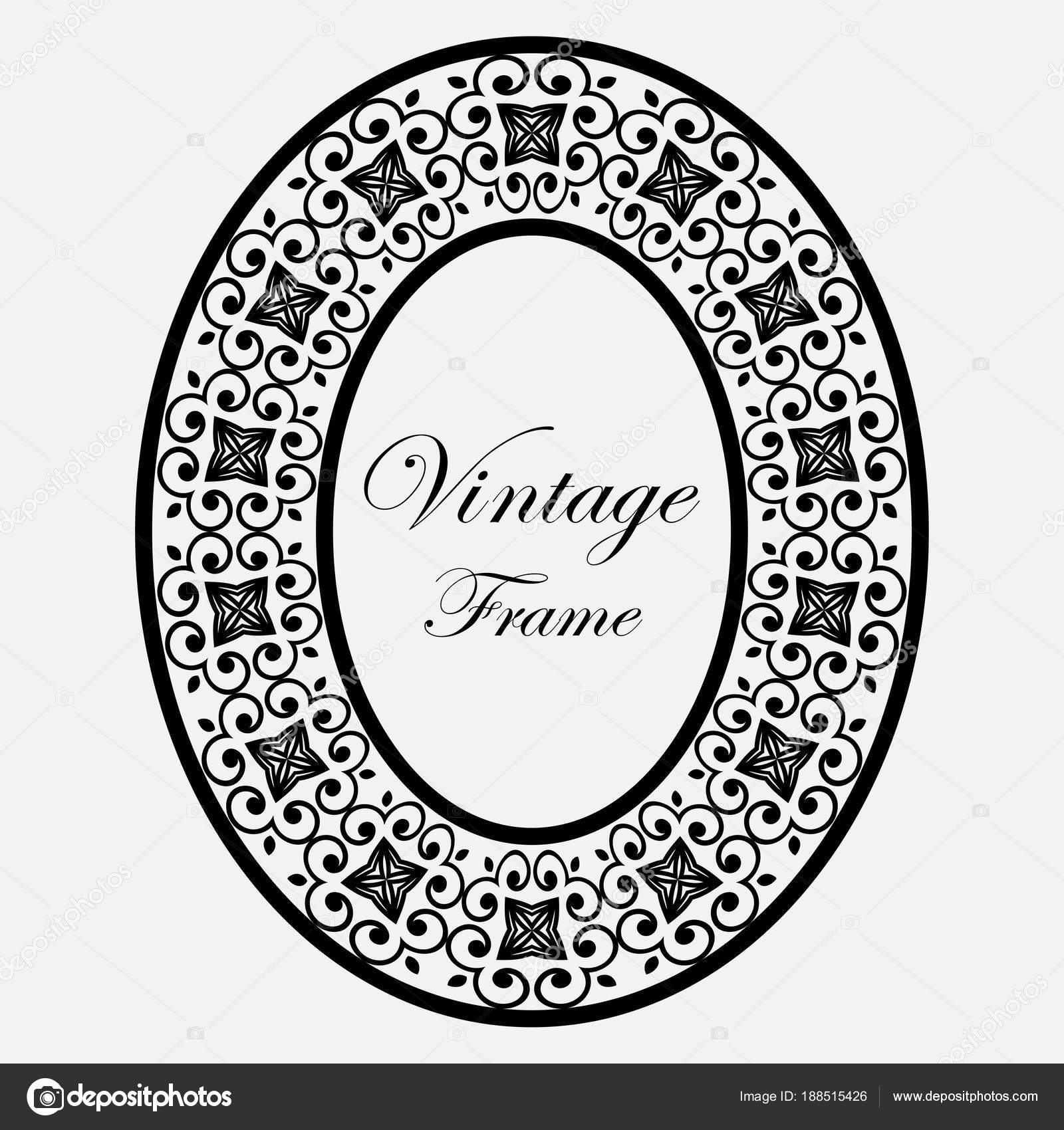 vintage round frame stock vector paykvector 188515426