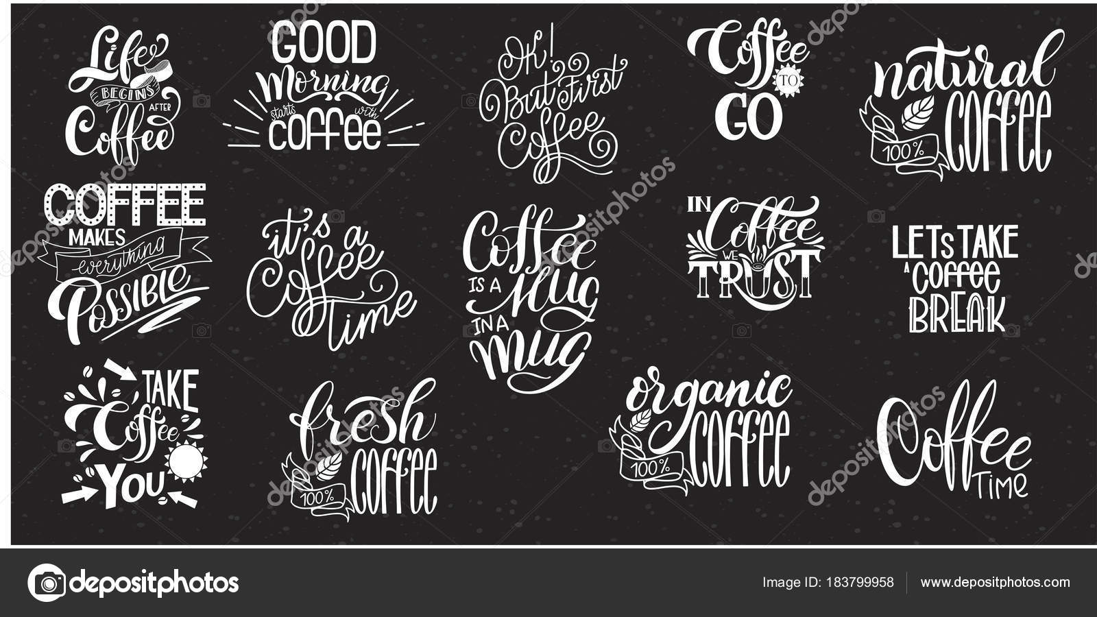 Citaten Koffie Xenia : De sets van belettering koffie citaten