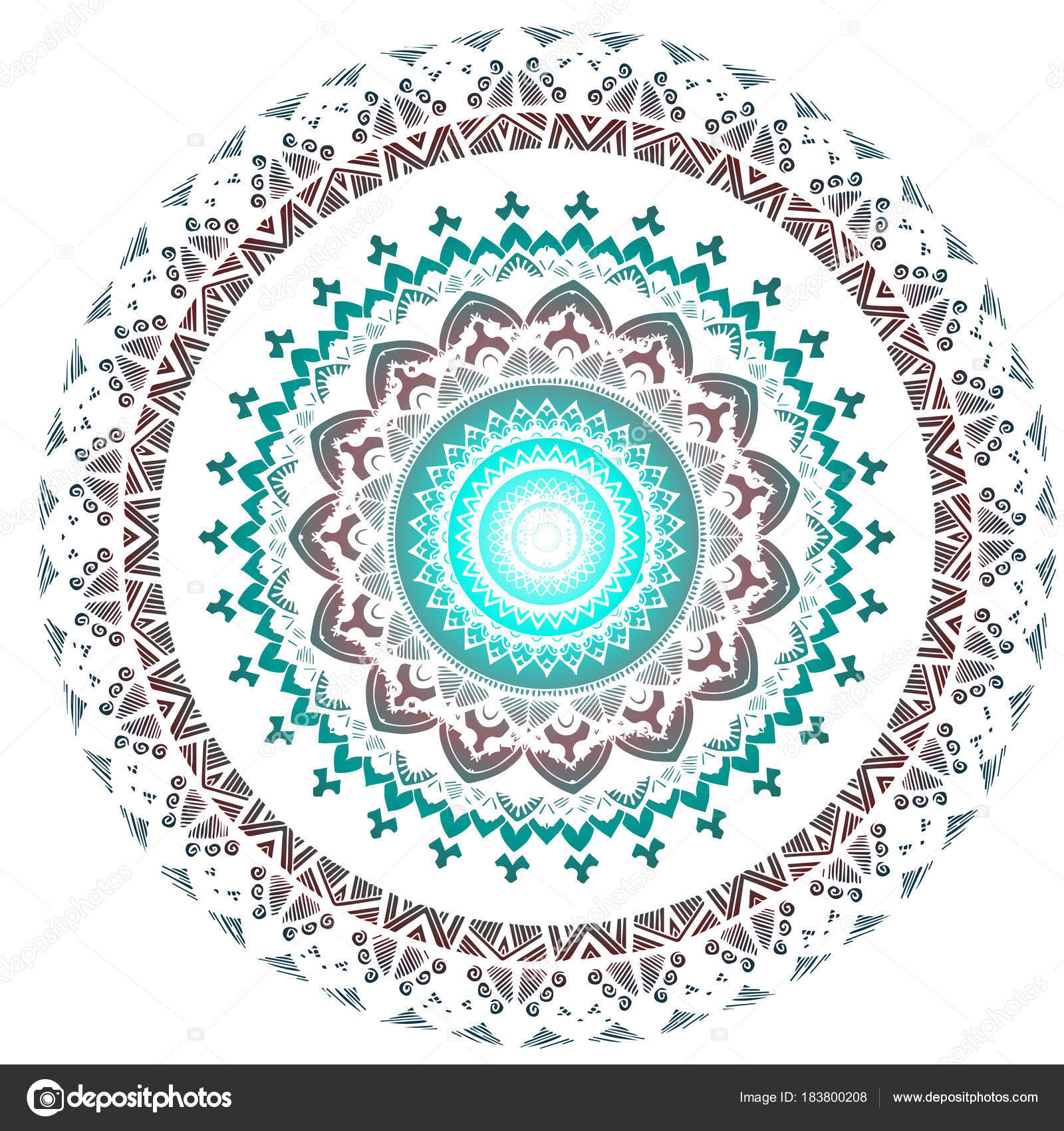 Abstract mandala in spring color — Stock Vector © Kandella #183800208