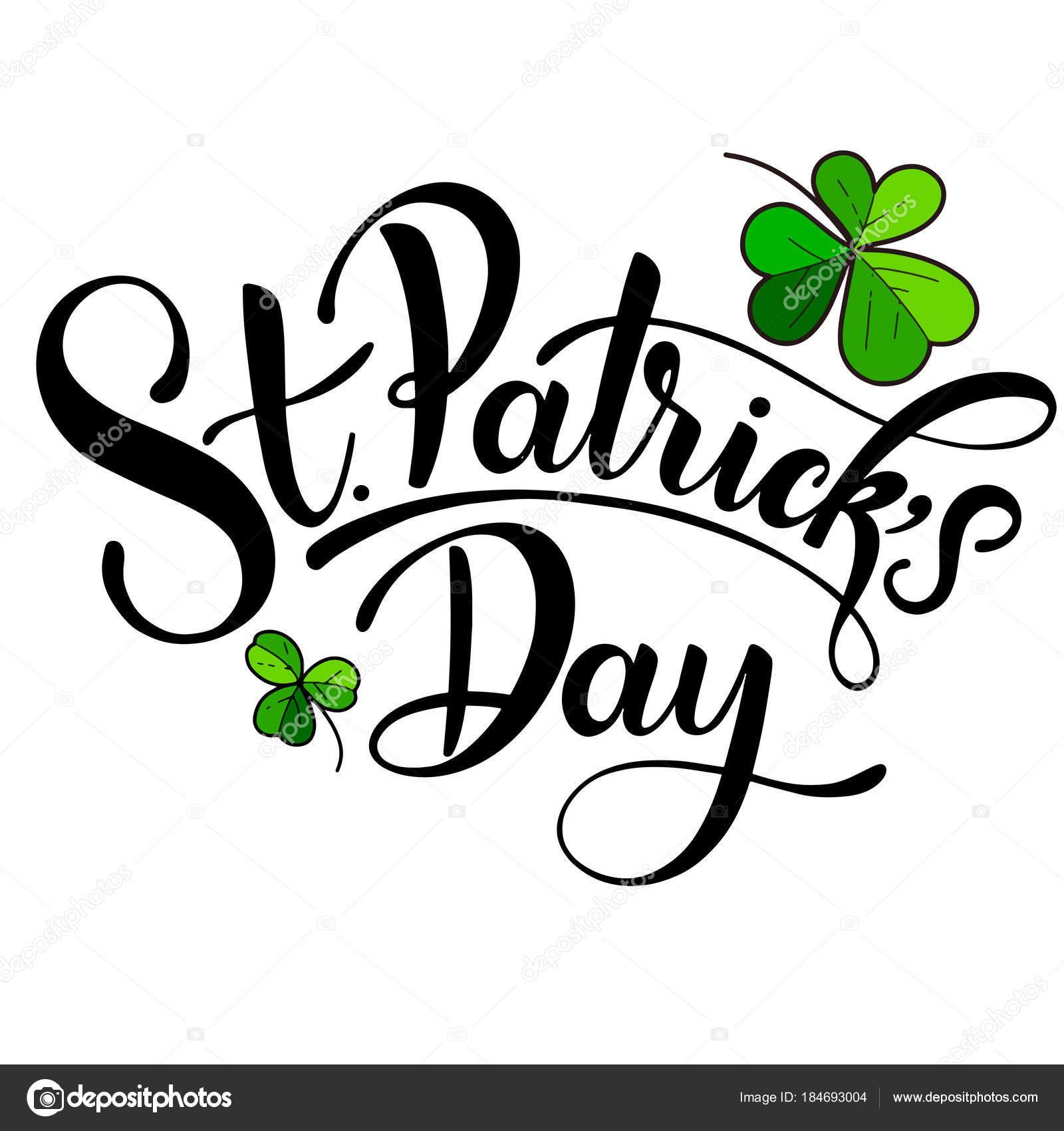 Happy Saint Patricks Day Vector illustration. Irish celebration ...