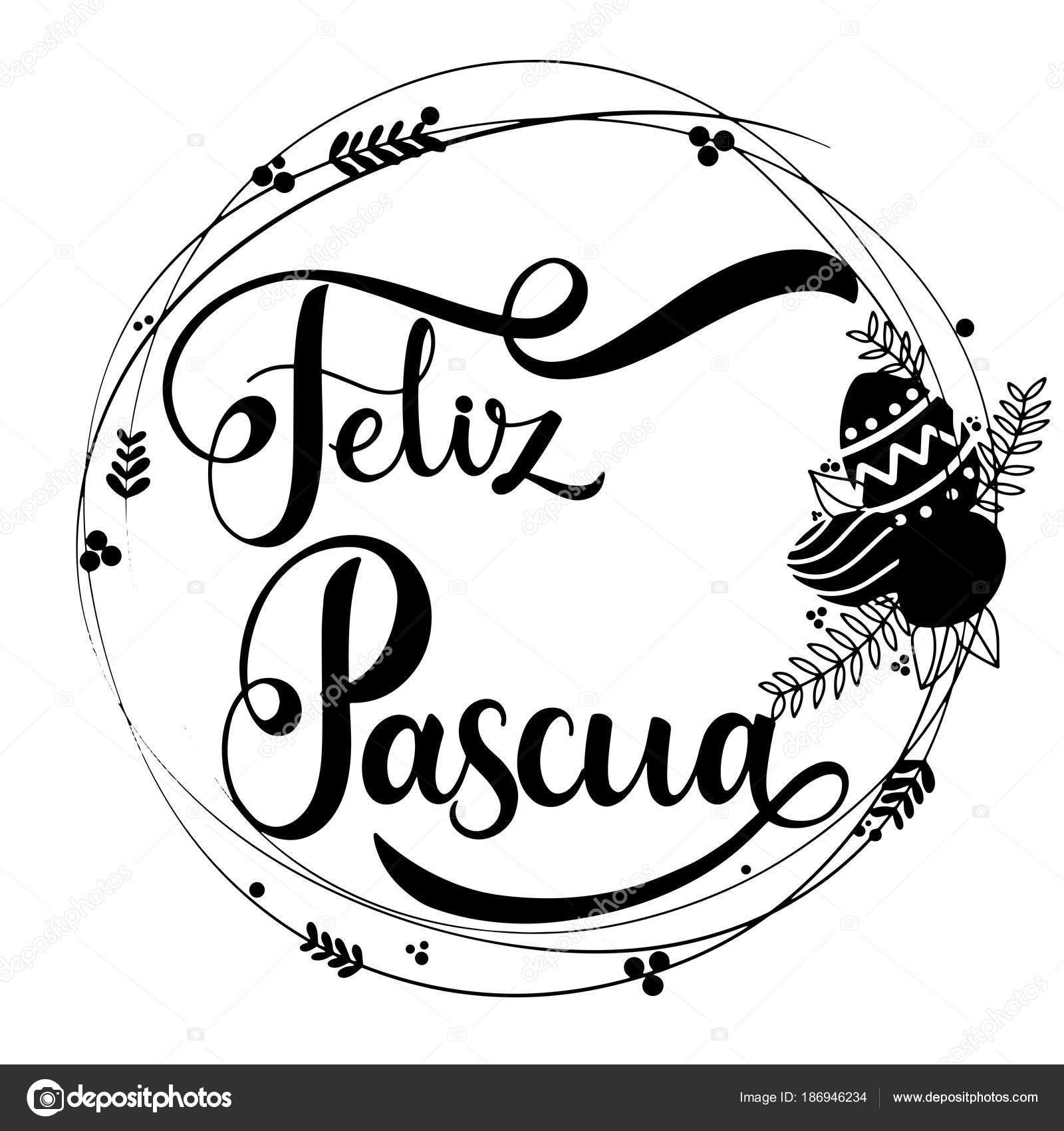 Feliz Pascua Lettering Stock Vector Kandella 186946234