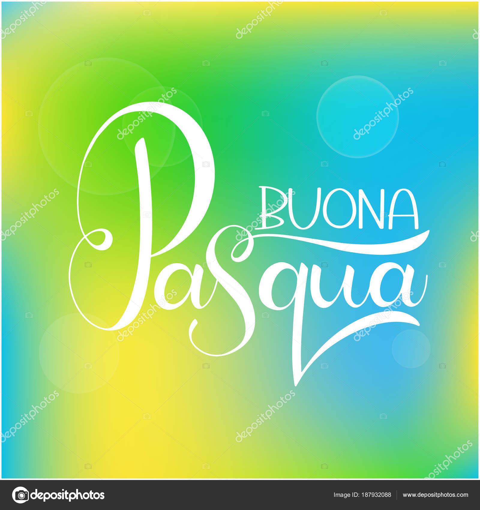 Letras Coloridas Da Feliz Páscoa Em Italiano Vetores De