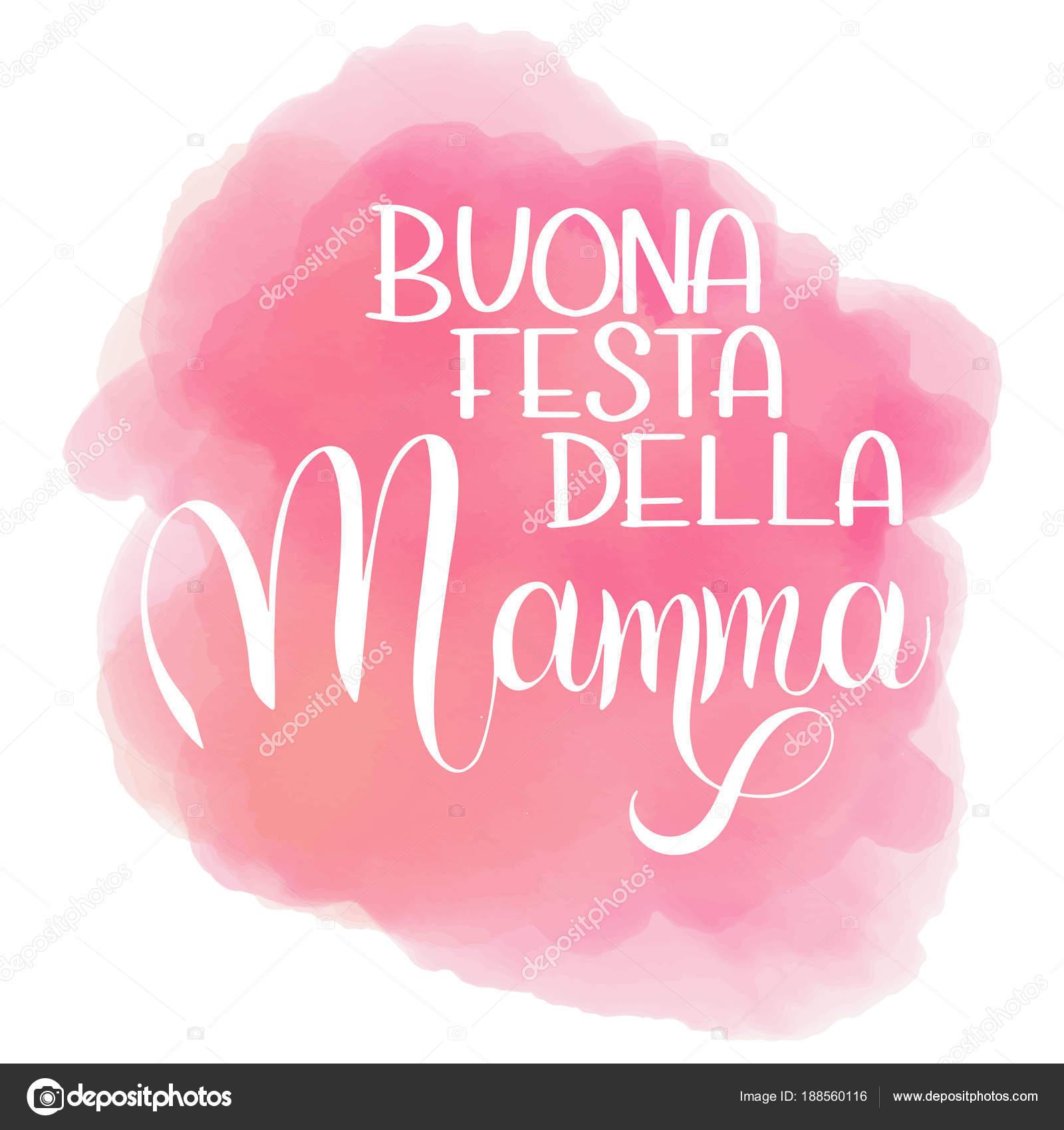 Carte Bonne Fete En Italien.Heureuse Mere Jour Lettrage Image Vectorielle Kandella C 188560116