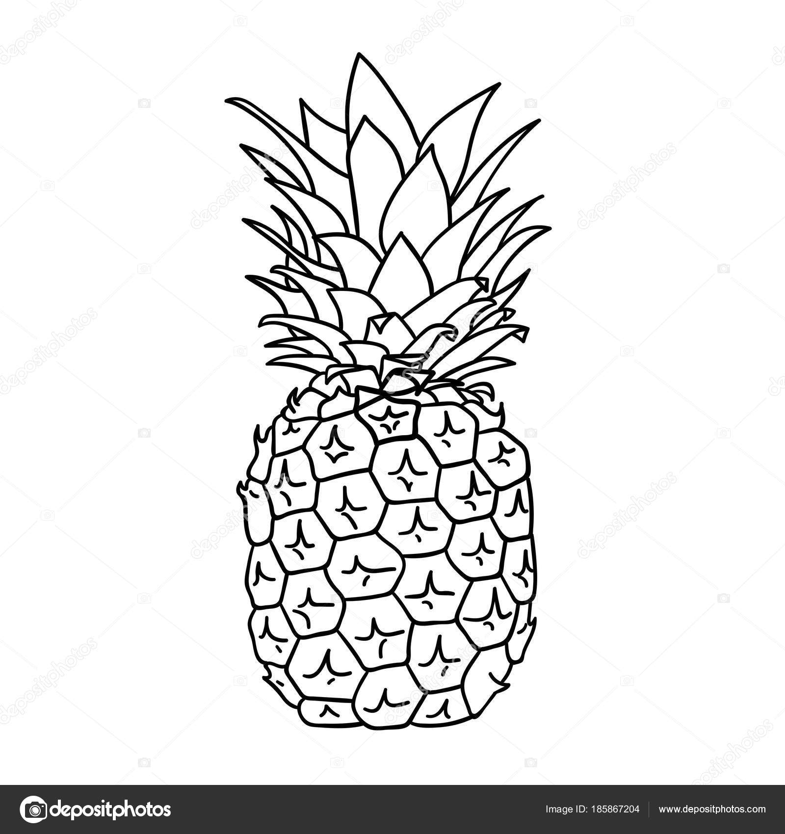 Vector illustration design ic ne ananas dessin anim - Ananas dessin ...