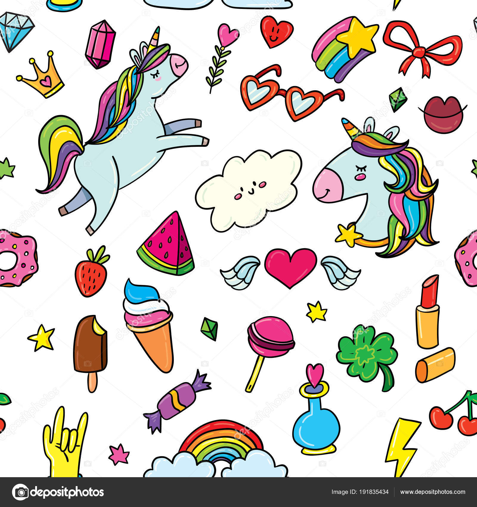 Dibujos Angeles Tiernos Lindo Dibujo Colorido Doodle Estilo