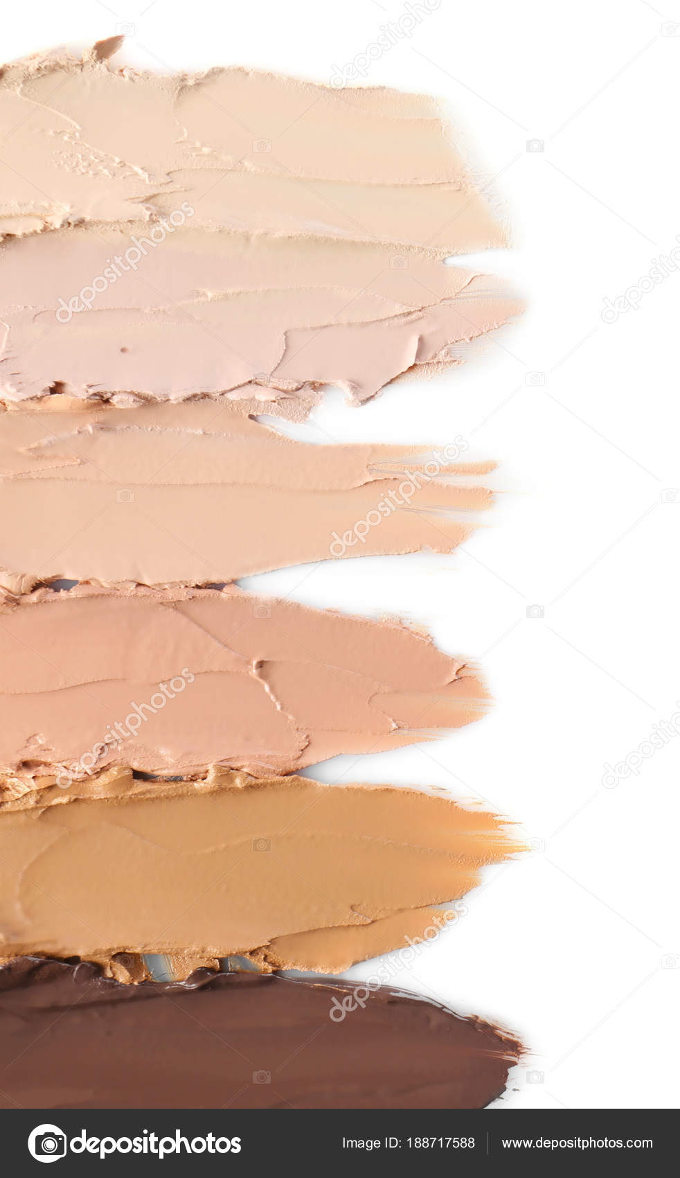 Diffe Shades Of Foundation On White
