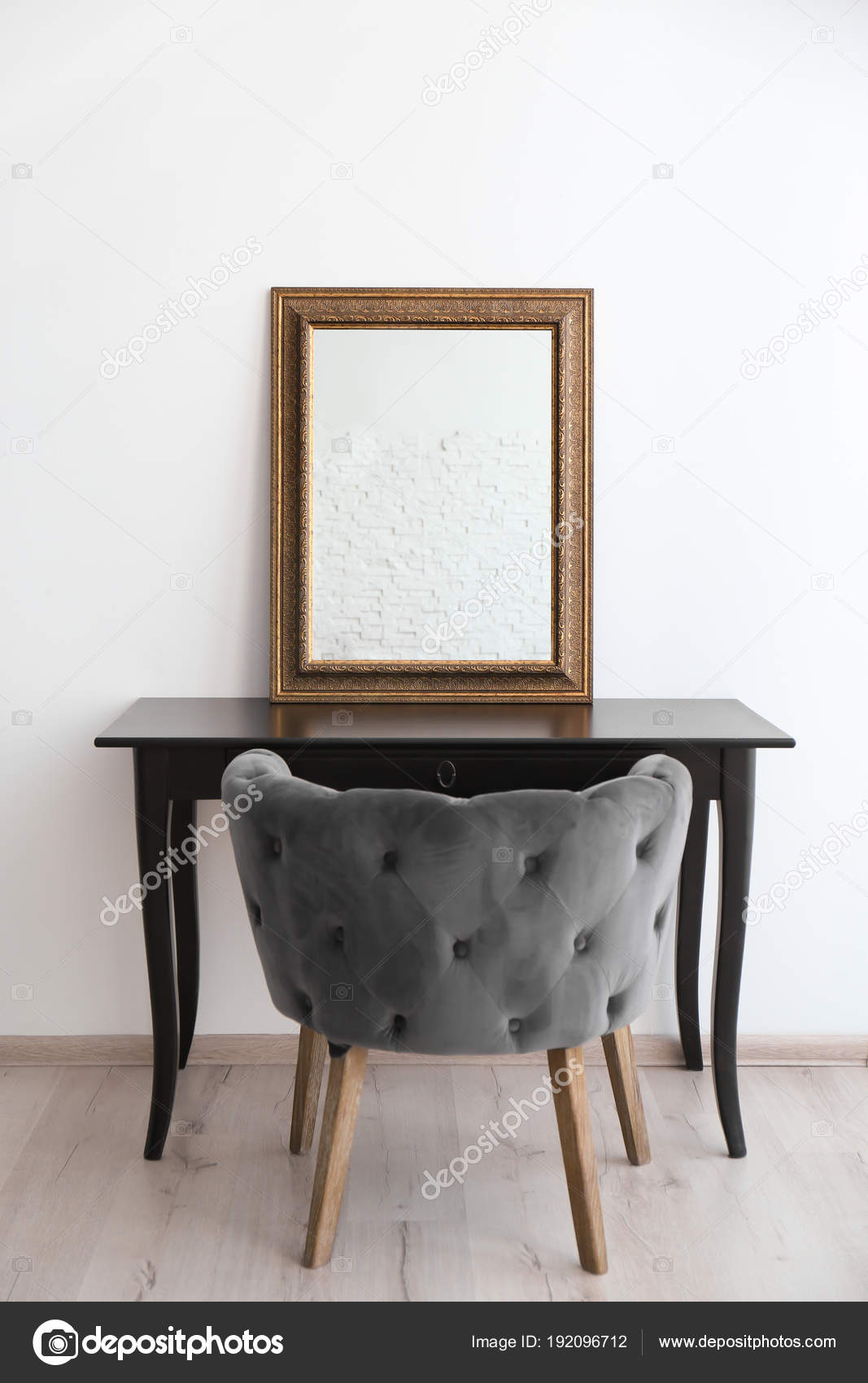 Modern Wood Dressing Table Modern Makeup Room Interior With Dressing Table And Mirror Stock Photo C Liudmilachernetska Gmail Com 192096712