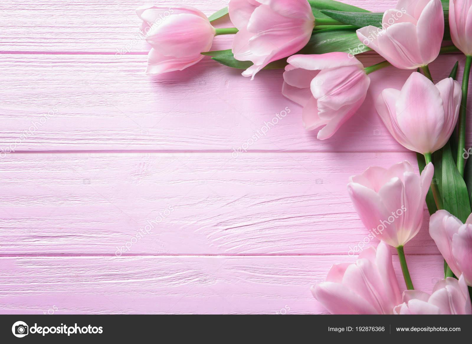 Hermosa Composición Con Tulipanes Para El Dia De La Madre