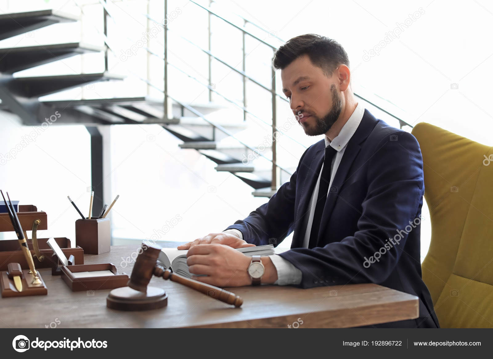 Male lawyer working in office — Stock Photo © liudmilachernetska@gmail.com #192896722