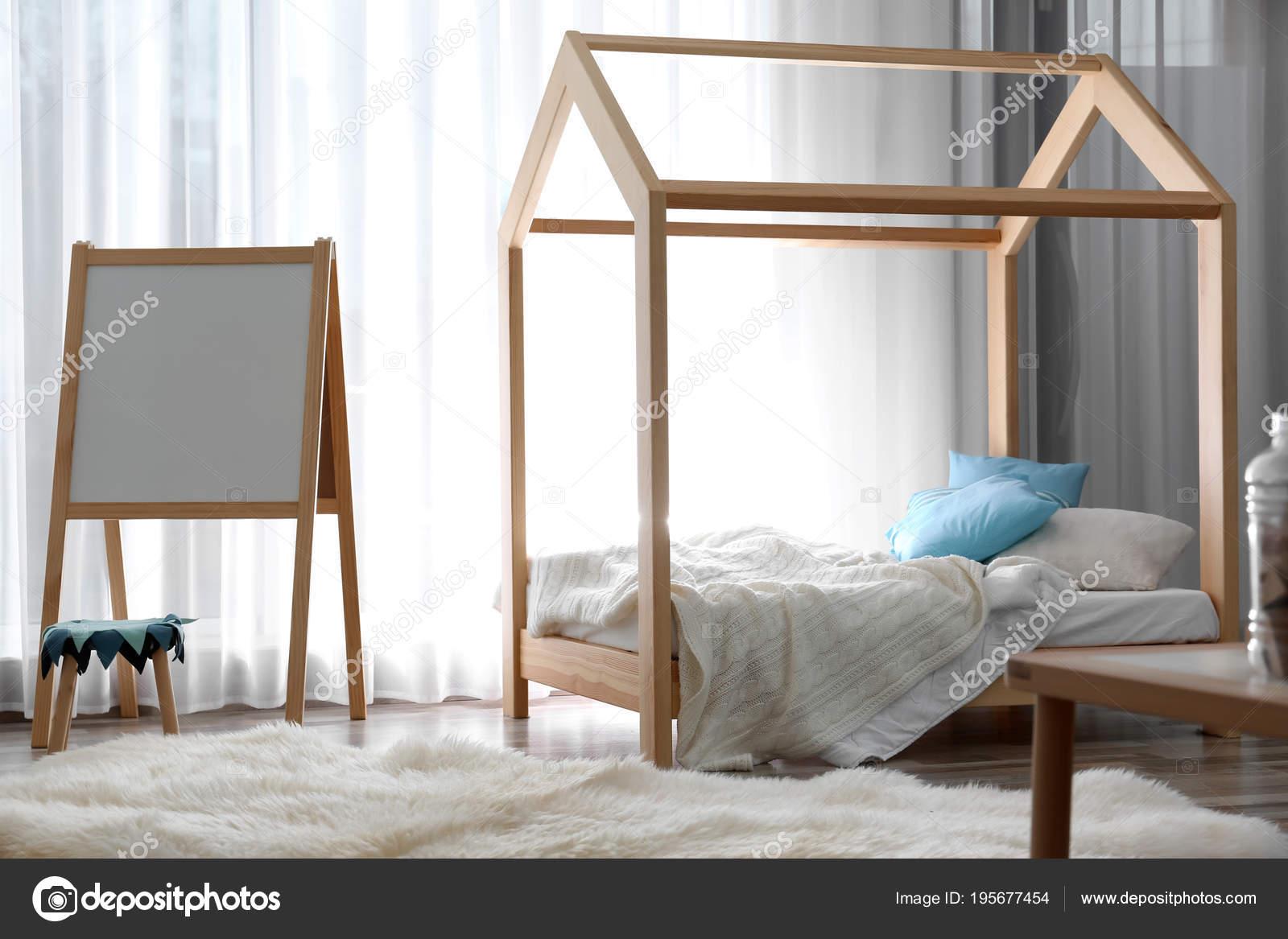 Moderne Kind Zimmer Interieur. Idee für Wohndesign — Stockfoto ...