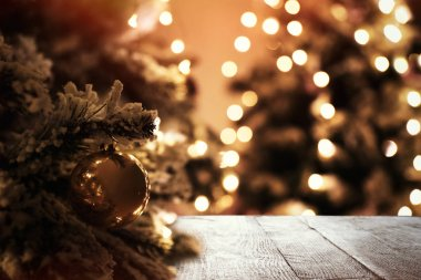 Closeup view of beautifully decorated Christmas tree indoors