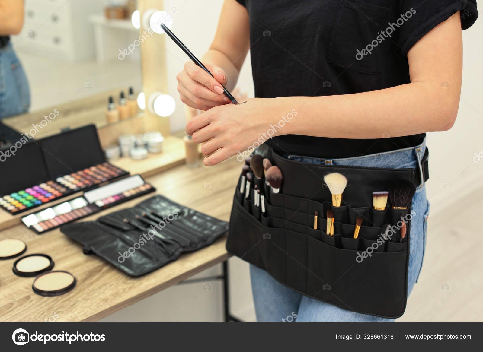 Professional Makeup Artist With Belt