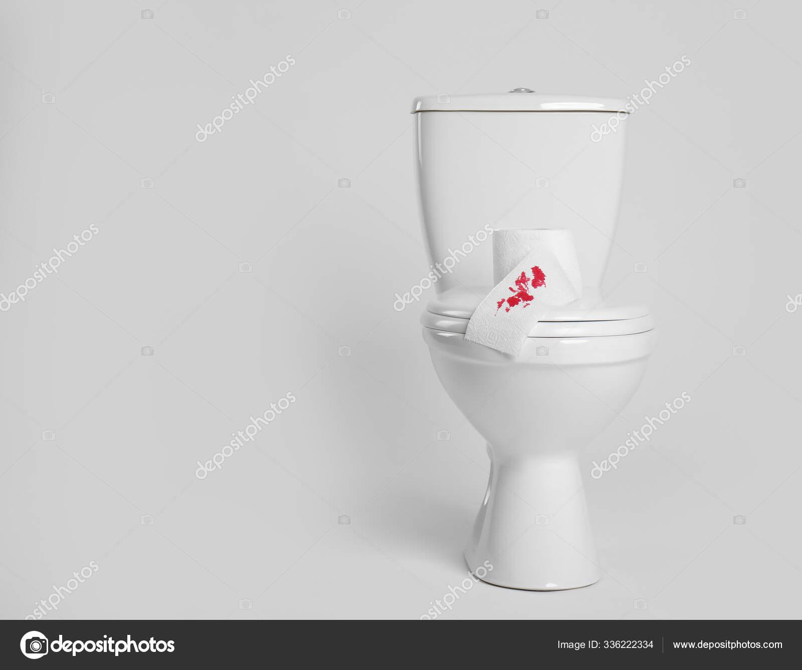 Paper Blood Stain Toilet Bowl White