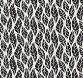 Geometriai zökkenőmentes levél vektor mintázat. Virágos illusztráció háttér.