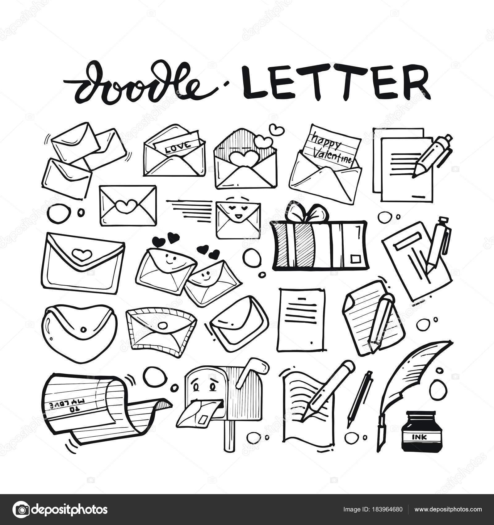 Doodle Letter Design Concept — Stock Vector © Icikuhibiniu